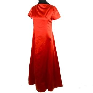Crazy gorgeous vintage 60's orange satin dress